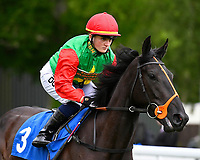 Holly Doyle onboard Billesdon Bess goes down to the start of The British Stallion Studs EBF Fillies' Handicap, during Afternoon Racing at Salisbury Racecourse on 18th May 2017