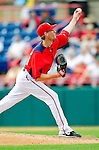 1 March 2011: Washington Nationals' pitcher Ross Detwiler on the mound during a Spring Training game against the New York Mets at Space Coast Stadium in Viera, Florida. The Nationals defeated the Mets 5-3 in Grapefruit League action. Mandatory Credit: Ed Wolfstein Photo