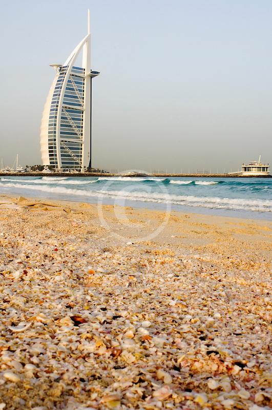 United Arab Emirates, Dubai, Burj Al Arab from Jumeirah Beach