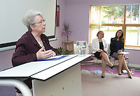 ***NO FEE PIC ***<br /> 11/06/2014<br /> (L to R)  Sr. Helena O' Donoghue Chairperson MLRC, Minister of State for Housing, Minister Jan O&rsquo;Sullivan TD  &amp; Maeve Regan Managing Solicitor MLRC during The Mercy Law Resource Centre's Annual Report for 2013 at Sophia Housing on Cork Street, Dublin.<br /> Photo:  Gareth Chaney Collins