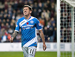 Hearts v St Johnstone&hellip;05.11.16  Tynecastle   SPFL<br />Danny Swanson reacts to a missed header<br />Picture by Graeme Hart.<br />Copyright Perthshire Picture Agency<br />Tel: 01738 623350  Mobile: 07990 594431