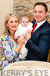 The Christening of baby Isabelle Kelly took place last sunday in St. Brigid's Church Duagh. The Christening was performed by Fr. Jack O' Donnell and Godparents are Thomas &amp; Margaret Kelly.<br /> Photo: Baby Isabelle Kelly on her Christening Day with her parents Laura &amp; Aidan.