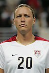 Oct 13 2007:   Abby Wambach (20) of the US WNT.  The US Women's National Team defeated Mexico 5-1 at the Edward Jones Dome in St. Louis on October 13th in their first of three expo matches.
