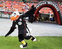 Talon, mascot of D.C. United during an MLS match against Seattle Sounders FC at RFK Stadium on July 15 2010, in Washington DC.Seattle won 1-0.