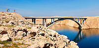 Pag  island bridge ,  Croatia