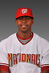 14 March 2008: ..Portrait of Francisco Guzman, Washington Nationals Minor League player at Spring Training Camp 2008..Mandatory Photo Credit: Ed Wolfstein Photo