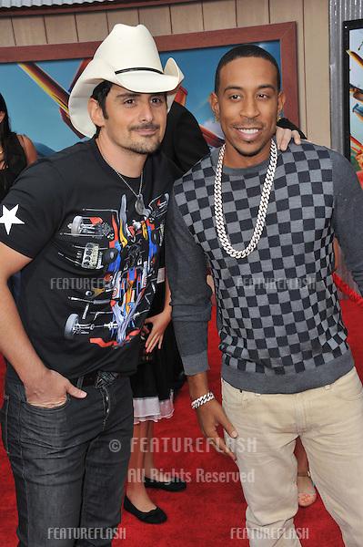 Brad Paisley &amp; Chris &quot;Ludacris&quot; Bridges (right) at the world premiere of Disney's &quot;Planes: Fire &amp; Rescue&quot; at the El Capitan Theatre, Hollywood.<br /> July 15, 2014  Los Angeles, CA<br /> Picture: Paul Smith / Featureflash