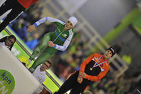 SCHAATSEN: HEERENVEEN: IJsstadion Thialf, 29-12-2015, KPN NK Afstanden, Eindpodium 1000m Dames, winnares Jorien ter Mors, ©foto Martin de Jong