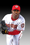 25 February 2007: Washington Nationals pitcher Felix Diaz poses for his Photo Day portrait at Space Coast Stadium in Viera, Florida.<br /> <br /> Mandatory Photo Credit: Ed Wolfstein Photo<br /> <br /> Note: This image is available in a RAW (NEF) File Format - contact Photographer.