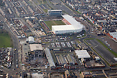 Blackpool Mecca building and Illuminations depot withBlackpool FC and the new Travelodge behind