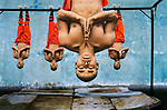 Shaolin monks training, Zhengzhou, China, 2004<br />