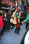 Atmosphere at the Soul Train Line Flash Mob in Memory of Don Cornelius, Times Square NY 2/4/12