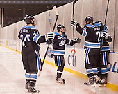Mark Anthoine (Maine - 24), Cam Brown (Maine - 21), Dan Renouf (Maine - 2), Ryan Lomberg (Maine - 7) - The University of Maine Black Bears defeated the Boston University Terriers 7-3 (2EN) on Saturday, January 11, 2014, at Fenway Park in Boston, Massachusetts.