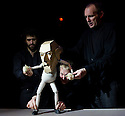 """Edinburgh, UK. 17/08/2011. Fringe First winners, Blind Summit, present """"The Table"""", starring Moses, the Bunraku table puppet, who is ably assisted into being by Mark Down, Nick Barnes and Sean Garratt. Photo credit: Jane Hobson"""