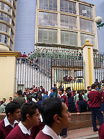 Long Lines to of Military Academy Students in the Candelaria - Bogota - Colombia
