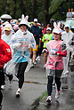Feb. 28, 2010 - Tokyo, Japan - Women dressed in bunny rabbit ears takes part in the 2010 Tokyo Marathon. Despite the cold and rain, more than 30,000 athletes participated in the event.