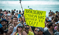Pipeline,  OAHU - HAWAII, USA: (Thursday, December 17, 2015): The Billabong Pipe Masters in Memory of Andy Irons was wrapped up today in 4 to 6 foot bumpy surf at the Banzai Pipeline. <br />  <br /> The final stop of the Men&rsquo;s Championship Tour and Vans Triple Crown of Surfing was decided with Adriano de Souza (BRA) claiming the World Champion's Title plus winning the Billabong Pipe masters. His fellow finalist and defending World Champion Gabriel Medina (BRA) in the 35 minute final.<br />  Photo: joliphotos.com