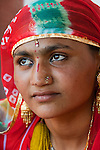 Portrait of a young woman, Rajasthan, India