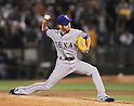 Yoshinori Tateyama (Rangers), AUGUST 12, 2011 - MLB:Yoshinori Tateyama of the Texas Rangers pitches during the game against the Oakland Athletics at O.co Coliseum in Oakland, California, United States. (Photo by AFLO)