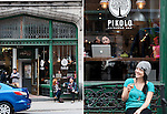 editorial travel photography: Pikolo café, Montreal, Canada