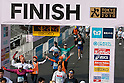 Feb. 28, 2010 - Tokyo, Japan - Runners take part in the 2010 Tokyo Marathon as they make their way to the finish line. Despite the cold and rain, more than 30,000 athletes participated in the event.