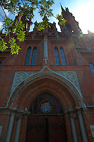 Roman Catholic gothic church of the Sacred Heart of Jesus in Samara, Russia. Former museum of local history in USSR.