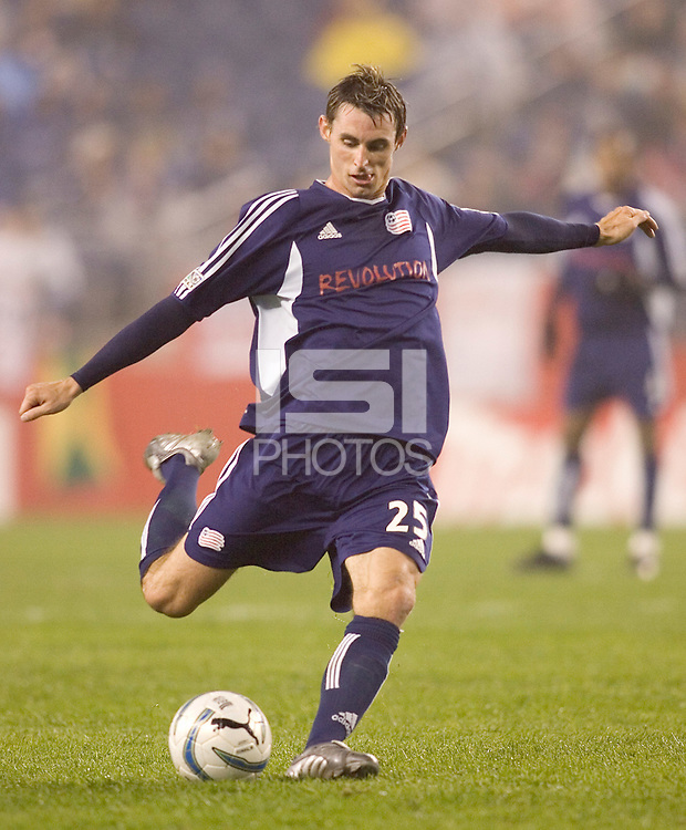 Andy Dorman prepares to take a shot. New England Revolution defeat CD Chivas USA, 1-0 at Gillette Stadium on April 30, 2005.