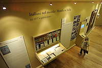 Il Museo nazionale dell'Emigrazione Italiana, documenta le esperienze migratorie nazionali e internazionali degli italiani.Roma..The National Museum Italian Emigration, documents the experiences about Italian national and international migration.Rome...