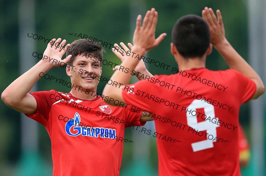 Fudbal season 2013-2014<br /> FK Crvena Zvezda pripreme<br /> Crvena Zvezda v Krka<br /> Luka Jovic (L) and Djordje Despotovic<br /> Novo Mesto, 07.12.2014.<br /> foto: Srdjan Stevanovic/Starsportphoto &copy;