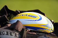 A general view of an Aviva Premiership branded rugby ball. Aviva Premiership match, between Bath Rugby and Harlequins on February 18, 2017 at the Recreation Ground in Bath, England. Photo by: Patrick Khachfe / Onside Images