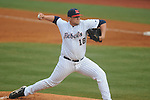 Ole Miss' Brady Bramlett (18) pitches vs. Arkansas-Pine Bluff at Oxford-University Stadium in Oxford, Miss. on Wednesday, February 27, 2013.
