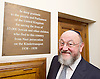 Kinderstransport plaque in Parliament, Westminster, London, Great Britain <br /> 27th January 2017 <br /> <br /> Chief Rabbi and Archbishop of Canterbury to mark Holocaust Memorial Day with Lord Dubs at rededication of Kindertransport plaque in Parliament<br />  <br /> 20 years ago the Committee of the Reunion of the Kindertransport donated a plaque to Parliament commemorating Britain&rsquo;s act of generosity to Jewish children in Nazi-occupied Europe. On Holocaust Memorial Day [27 January 2017], the plaque will be rededicated in the presence of newly arrived child refugees who were reunited with their families from Calais last year by Safe Passage, a project of Citizens UK. <br />  <br /> The ceremony will be particularly poignant as it will be attended by Lord Dubs, himself a Kindertransport survivor, who passed an amendment to the Immigration Act last year, with the Government's support, affording sanctuary in the UK to some of the most vulnerable lone child refugees in Europe.<br />  <br /> Chief Rabbi, Ephraim Mirvis, <br /> <br /> <br /> Rededication of Kinderstransport plaque in Parliament<br /> <br /> <br /> <br /> <br /> Photograph by Elliott Franks