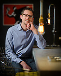 Portrait photograph of Tony Miles, Lighting Designer, taken at Londonewcastle's offices in London
