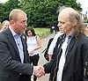 Liberal Democrats Remain IN Campaign event with their battle bus in Mile End, London, Great Britain <br /> 19th June 2016 <br /> <br /> Tim Farron MP meets the locals<br /> Leader of the Liberal Democrats <br /> <br /> <br /> Photograph by Elliott Franks <br /> Image licensed to Elliott Franks Photography Services