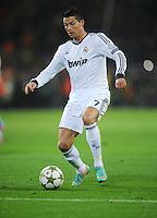 FUSSBALL   CHAMPIONS LEAGUE   SAISON 2012/2013   GRUPPENPHASE   Borussia Dortmund - Real Madrid                                 24.10.2012 Cristiano Ronaldo (Real Madrid) Einzelaktion am Ball
