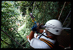 the zip line Tree canopy tour at the Arenal Volcano in Costa Rica