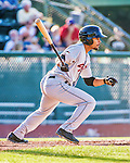 1 September 2014: Tri-City ValleyCats outfielder Jason Martin in action against the Vermont Lake Monsters at Centennial Field in Burlington, Vermont. The ValleyCats defeated the Lake Monsters 3-2 in NY Penn League action. Mandatory Credit: Ed Wolfstein Photo *** RAW Image File Available ****