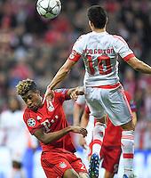 FUSSBALL CHAMPIONS LEAGUE  SAISON 2015/2016 VIERTELFINALE HINSPIEL FC Bayern Muenchen - Benfica Lissabon         05.04.2016 Kingsley Coman (li, FC Bayern Muenchen) gegen Nicolas Gaitan (re, Benfica Lissabon)