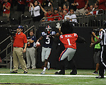 Ole Miss running back Jeff Scott (3) scores vs. Tulane in the first half at the Mercedes-Benz Superdone in New Orleans, La. on Saturday, September 22, 2012. Ole Miss won 39-0...
