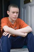 Portrait of a Teenage boy looking moody. MR