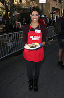 Los Angeles, CA - NOVEMBER 23: Kara Royster, At Los Angeles Mission Thanksgiving Meal For The Homeless At Los Angeles Mission, California on November 23, 2016. Credit: Faye Sadou/MediaPunch