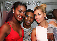 NEW YORK, NY - AUGUST 25, 2016 Justine Skye A Boogie & Hailey Baldwin celebrate at Up & Down, August 25, 2016 in New York City. Photo Credit: Walik Goshorn / Mediapunch
