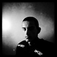 Ice Men Cometh&hellip;  Martin Talev, 17, Bulgaria..An iPhone portrait series on young men competing in the 2012 IIHF Ice Hockey World Championships Division 3. The tournament  was contested by countries New Zealand, Iceland, China, Bulgaria and Turkey at Dunedin Ice Stadium. Dunedin, Otago, New Zealand. 17th January 2012. Photo Tim Clayton
