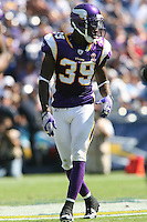 09/11/11 San Diego, CA: Minnesota Vikings defensive back Husain Abdullah #39 during an NFL game played at Qualcomm Stadium between the San Diego Chargers and the Minnesota Vikings. The Chargers defeated the Vikings 24-17.