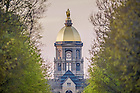 Apr. 28, 2015; Golden Dome viewed down Notre Dame Avenue. (Photo by Matt Cashore/University of Notre Dame)