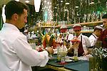 Specialty Italian ice cream at Gelato e Caffe in the Arkaden shopping mall, Berlin, Germany