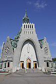 Our Lady of the Cape Basilica, located on the shore of the St. Lawrence river just East of Three-Rivers, Quebec.  The construction began in 1955. it was inaugurated in 1964.