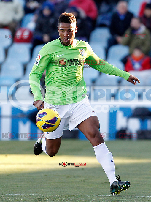 Malaga's Eliseu Pereira during La Liga match.December 01,2012. (ALTERPHOTOS/Acero) ©/NortePhoto
