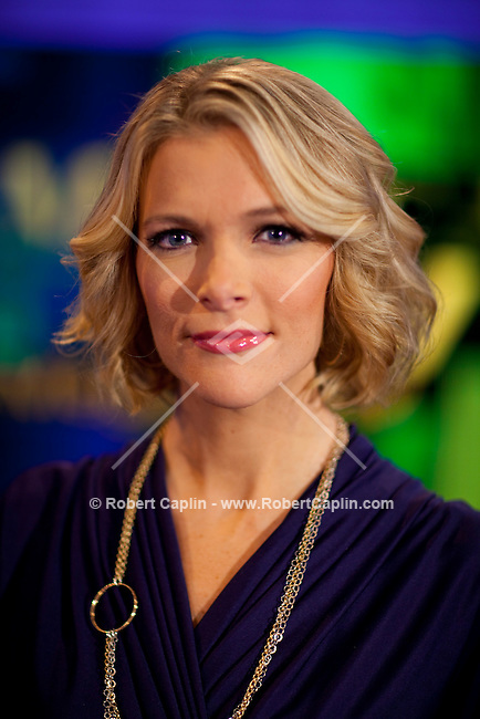 Megyn Kelly, host of America Live on Fox News on set in New York. ..Photo by Robert Caplin.