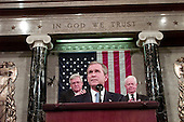 Washington, DC - September 20, 2001 -- United States President George W. Bush speaks to a Joint Session of Congress to detail his plan to combat terrorism at the Capitol in Washington, D.C. on September 20, 2001..Credit: Win McNamee - Pool via CNP